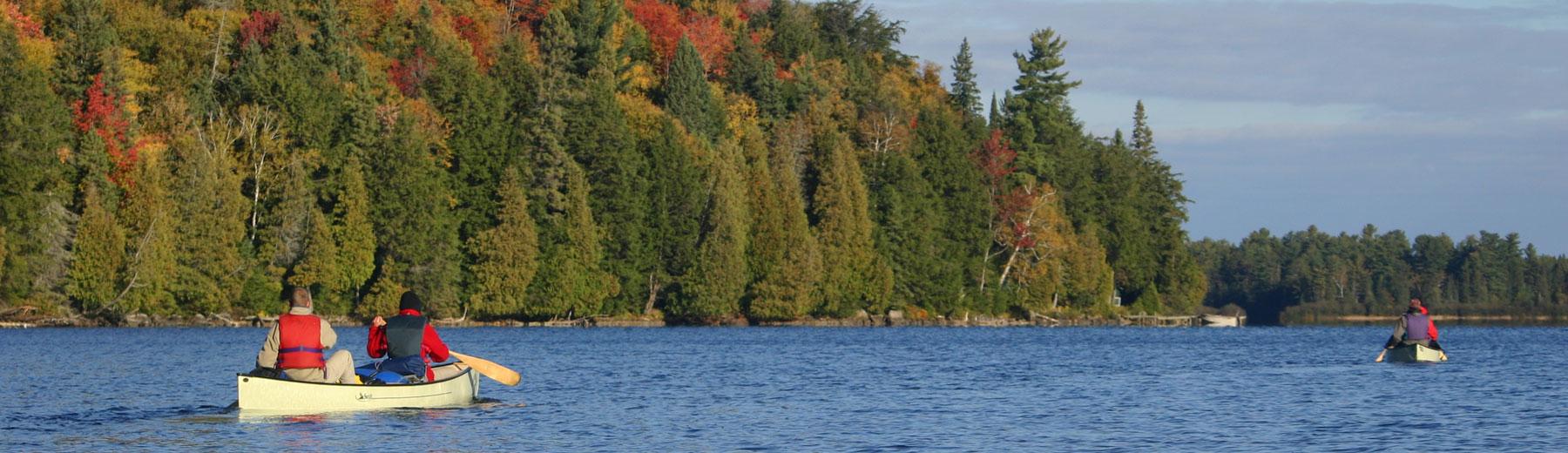 Canoers in Algonquin Park, Ontario