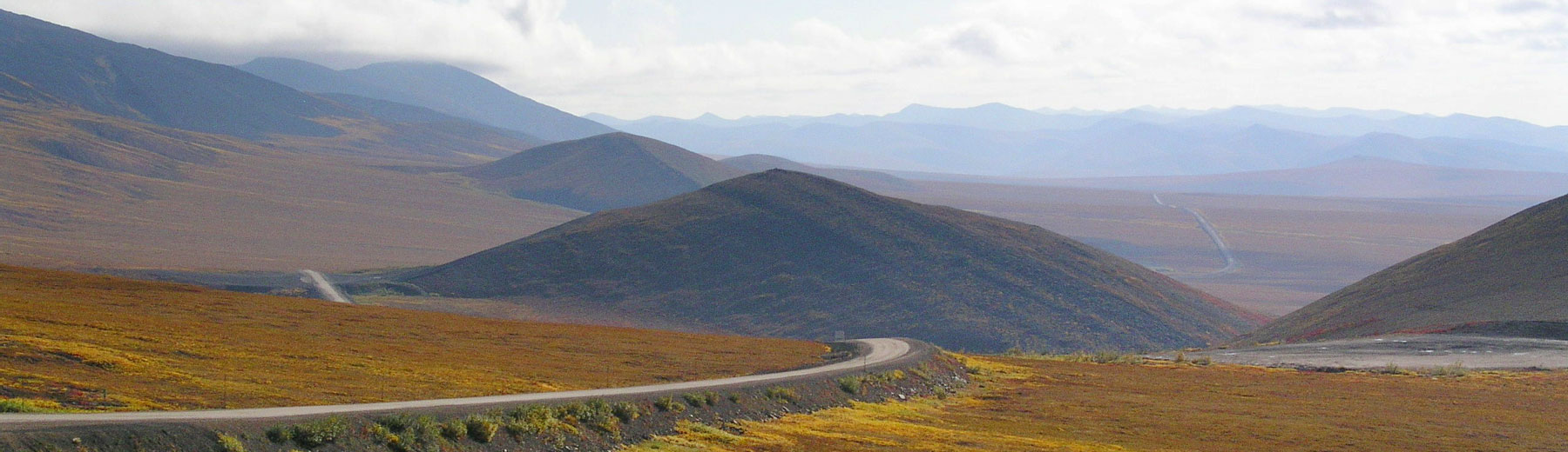 Dempster Highway through the Richardson Mountains in the fall