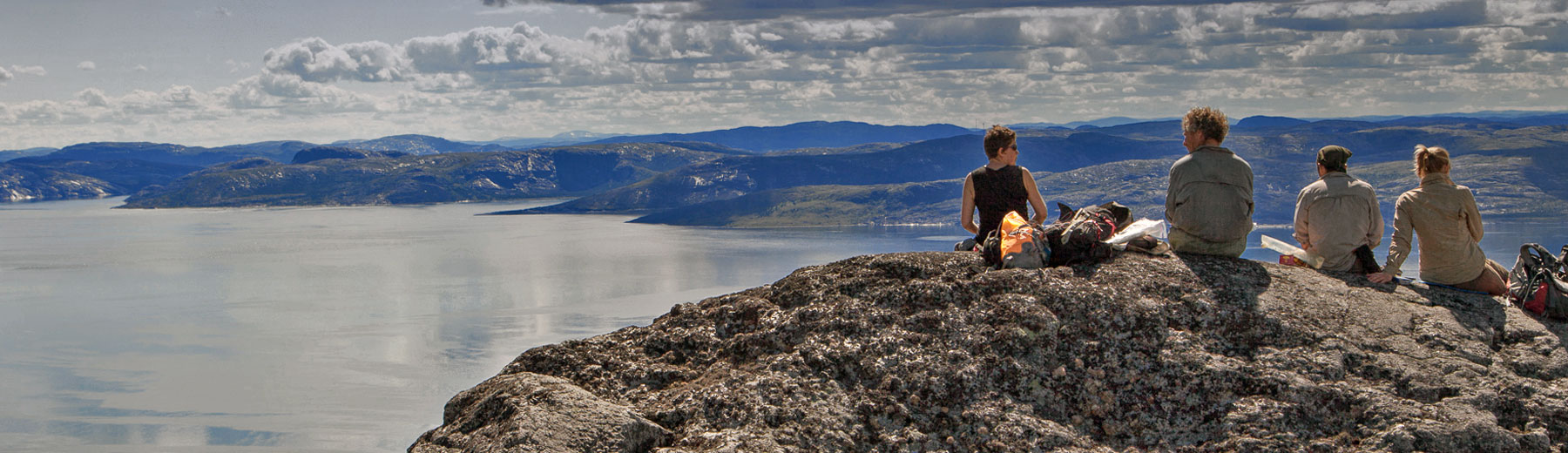 Taking in the view over Siugak Fjord, Labrador