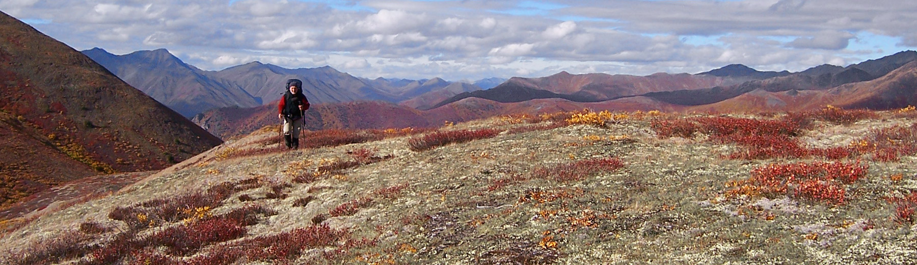 Fall trekking in Tombstone Park, Yukon