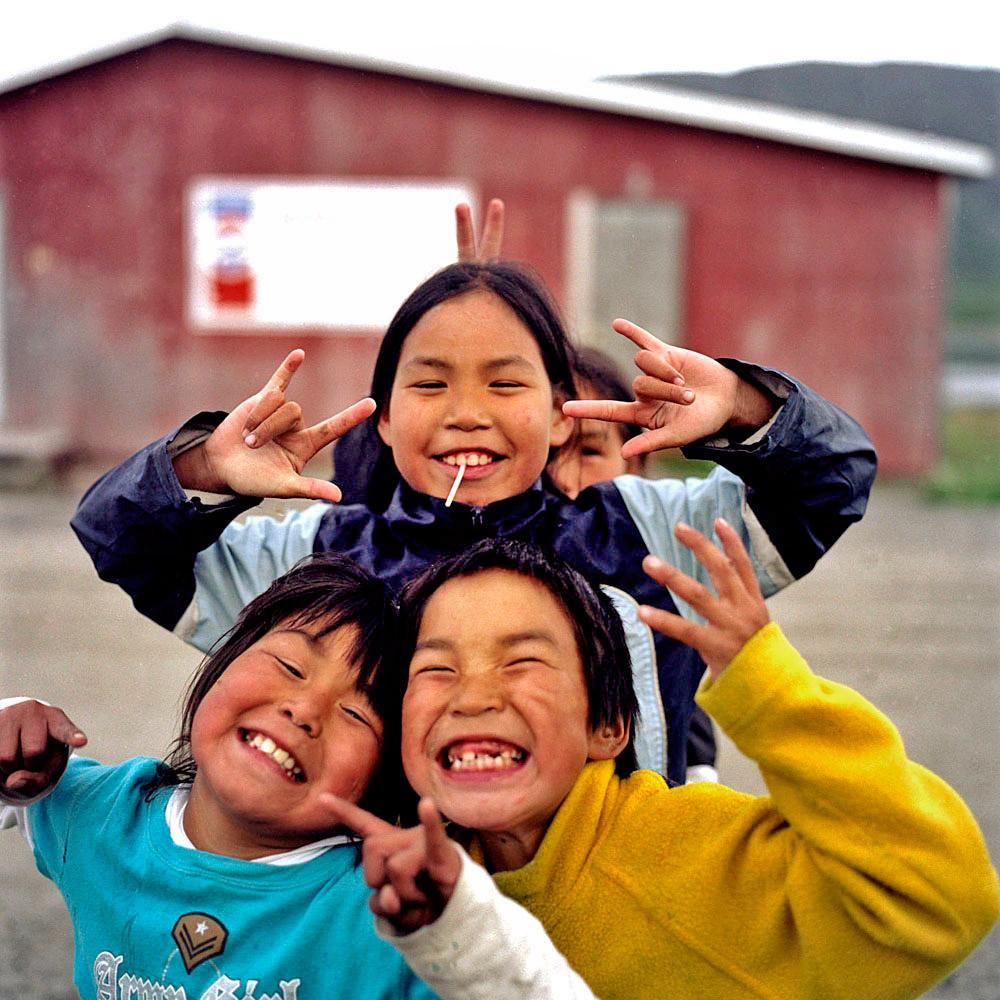 Inuit kids in Nain, Labrador