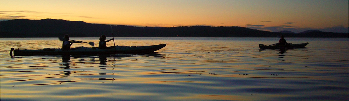 Sunset paddle in Gulf Islands National Park