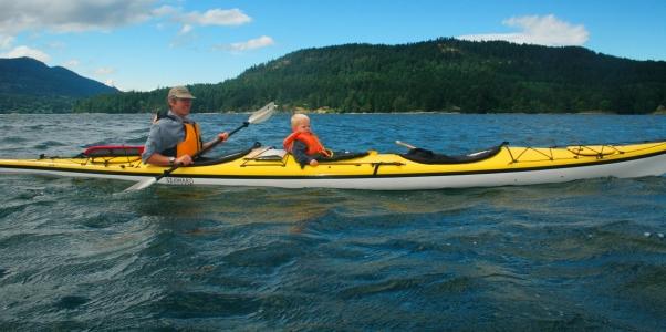 Family paddle(Saltspring Island, BC)