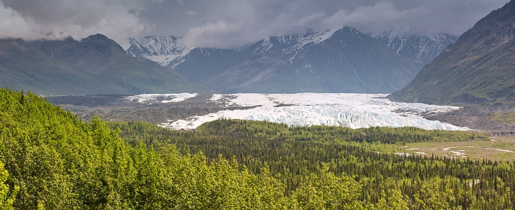 Matanuska Glacier in the Matanuska Valley recreation area