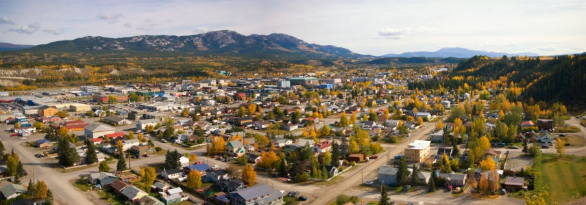 Downtown Whitehorse in the fall, Yukon