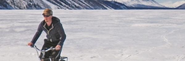 Biking fun on Kathleen Lake (Kluane NPR)