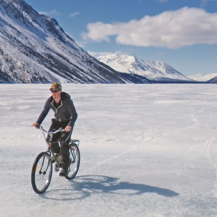 Biking fun on Kathleen Lake (Kluane NPR)