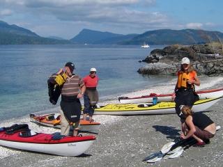 Salt Spring Island kayaking with Nature Trek Canada