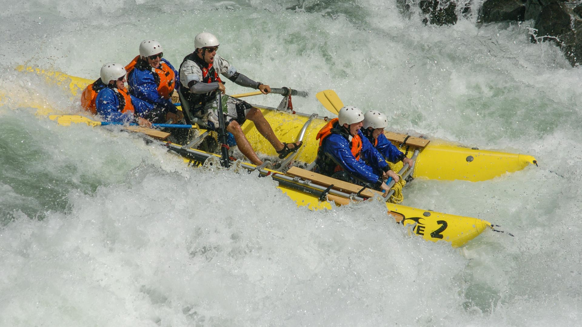 Whitewater rafting in the BC interior