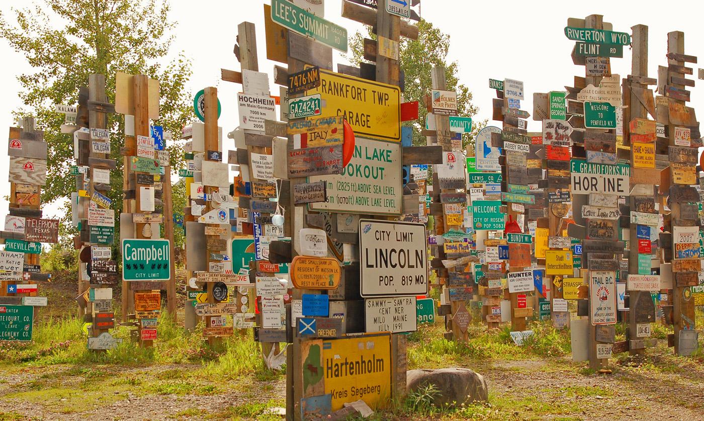 Sign Forest in Watson Lake, Yukon