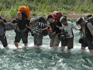 Creek crossing in Kluane NP - Nature Trek Canada