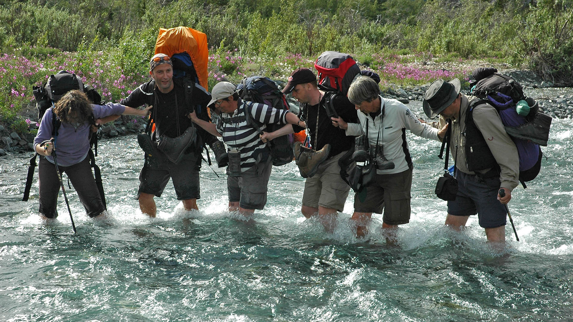 Creek crossing in Kluane NP - Nature Trek Canada