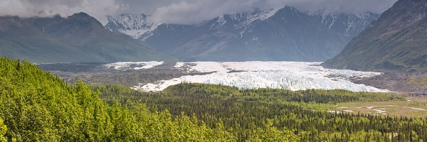 Matanuska Glacier in the Matanuska Valley recreation area
