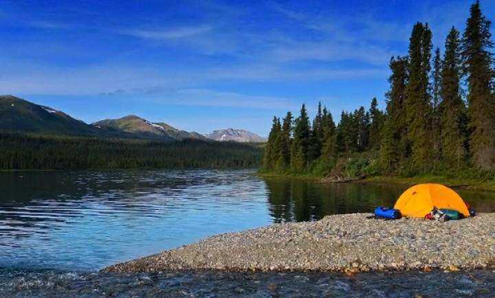Yukon river camping